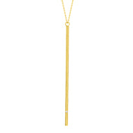 Yellow Gold Bar Necklace
