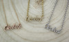 "White Gold ""Okoboji"" Script Necklace"