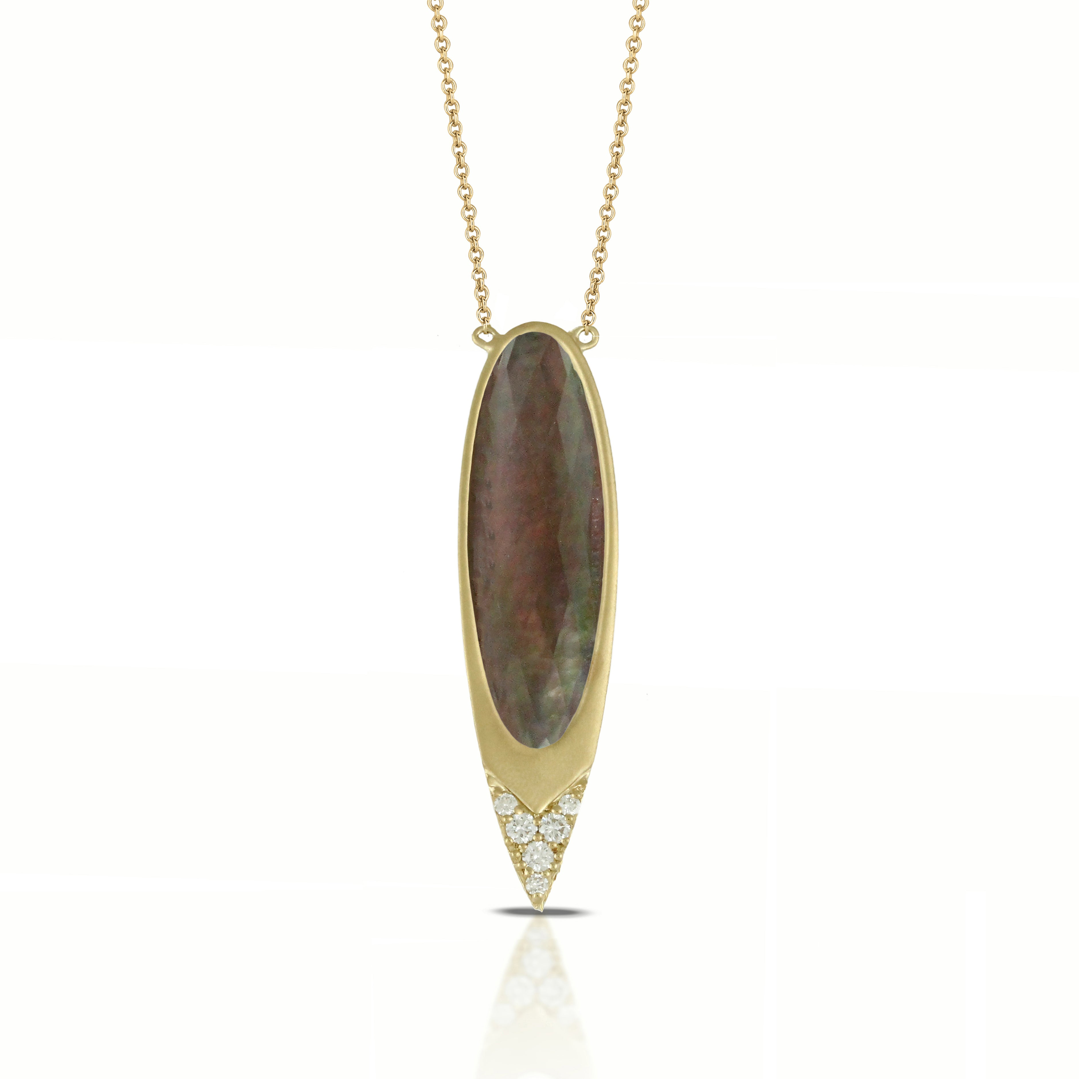 Mother of Pearl With Quartz Pendant