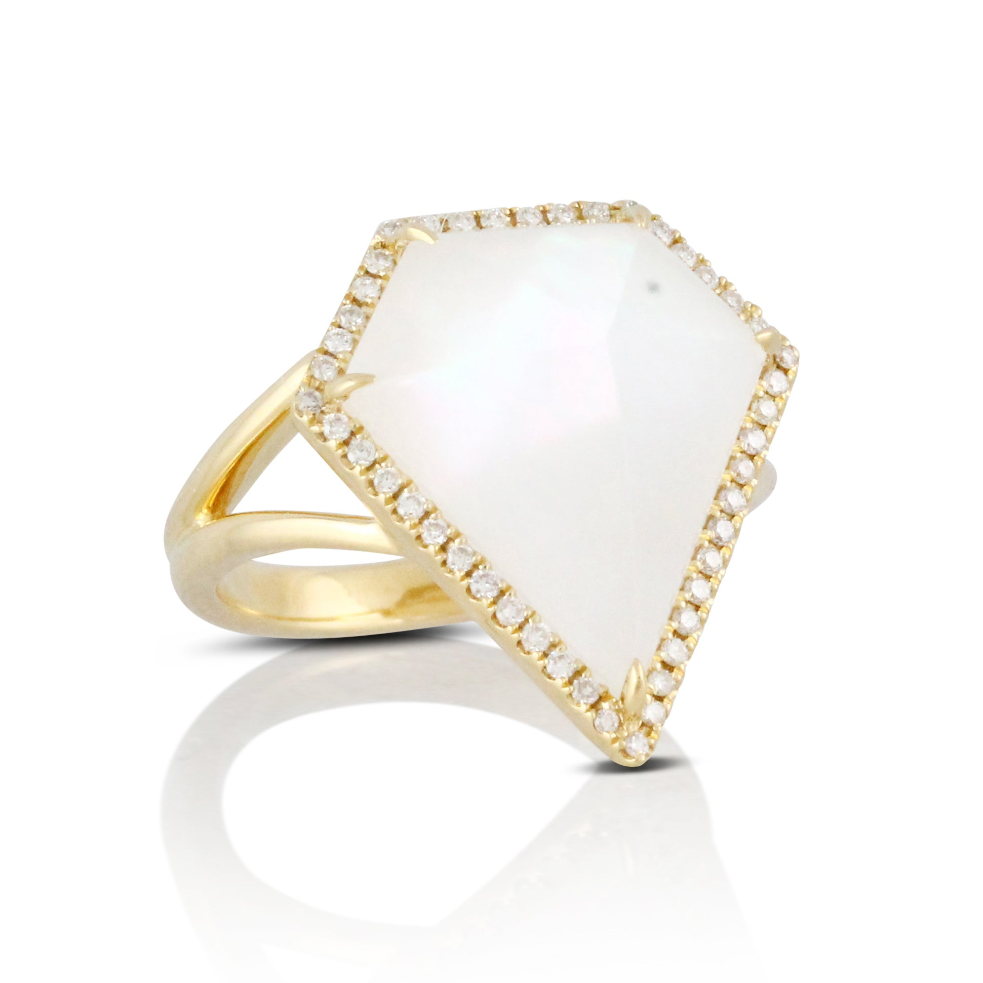 Mother of Pearl with Quartz Ring