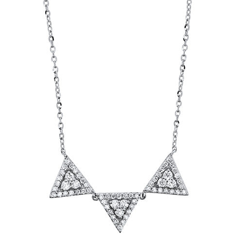 Abstract Diamond Necklace
