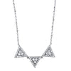 Abstract Diamond Triangle Necklace