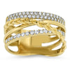 Yellow Gold Braided Fashion Ring