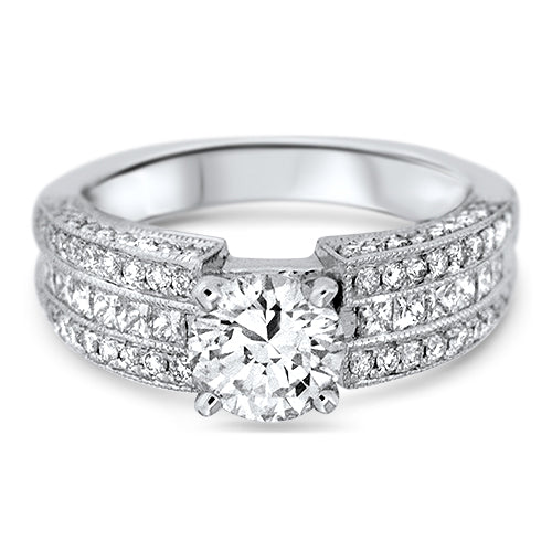1.0ct Center Round Diamond Ring