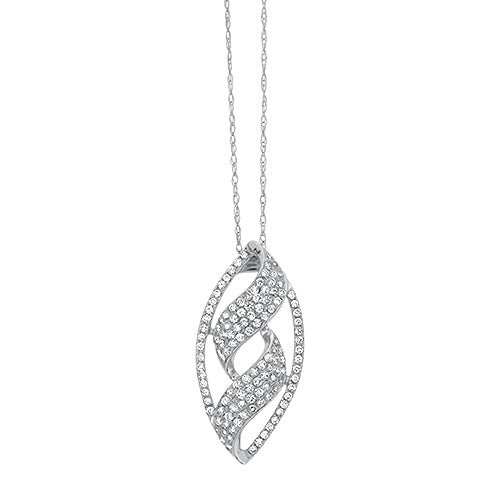 Marquise Shaped Diamond Pendant