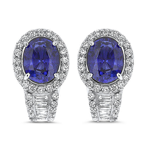 8.13ct Tanzanite and Diamond Earrings