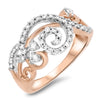 Diamond and Rose Gold Fashion Ring