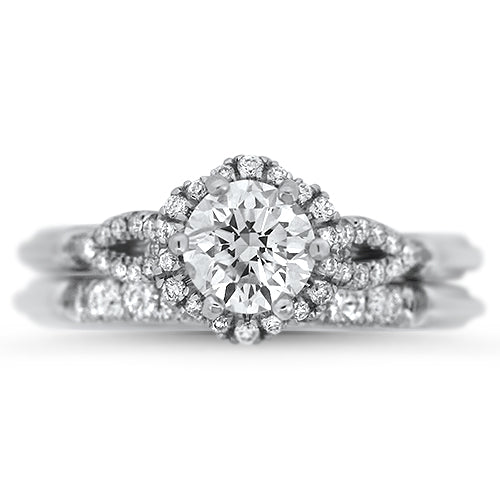 Blooming Diamonds, Diamond Wedding Set