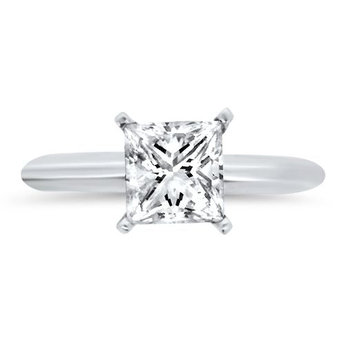 1.30ct Princess Cut Solitaire Diamond Ring