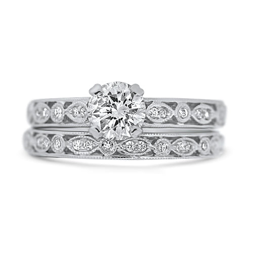 1.02ct White Gold Wedding Set