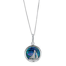 Load image into Gallery viewer, White Gold Abalone Shell 16mm Sailboat