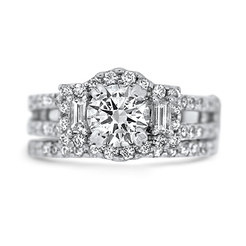 1.0ct Diamond Wedding Set