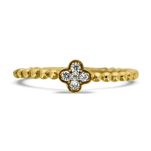 Clover Diamond Fashion Ring