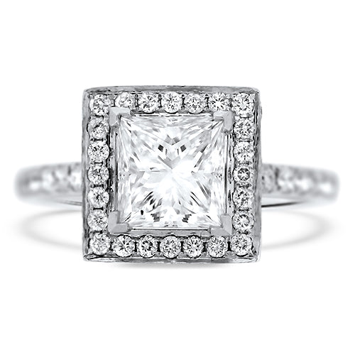 1.66ct Princess Cut Diamond Engagement Ring