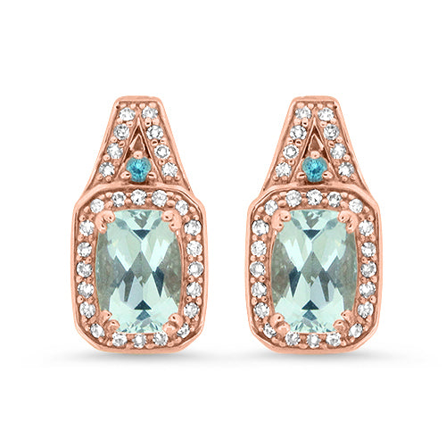 Aquamarine and Blue Topaz Earrings