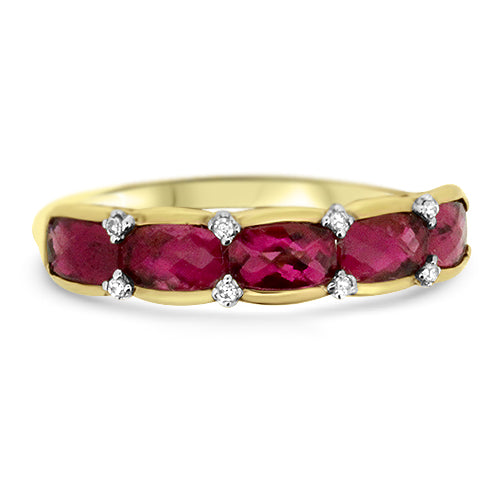 Rubellite & Diamond Ring