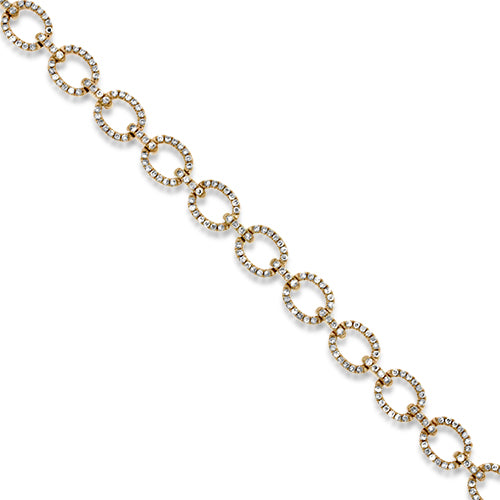 1.29ct Total Weight Rose Gold Diamond Bracelet