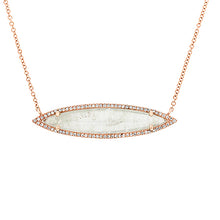 Load image into Gallery viewer, Moonstone & Diamond Necklace