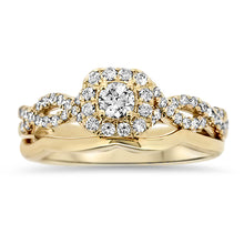 Load image into Gallery viewer, Yellow Gold Wedding Set