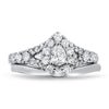 White Gold Diamond Wedding Set