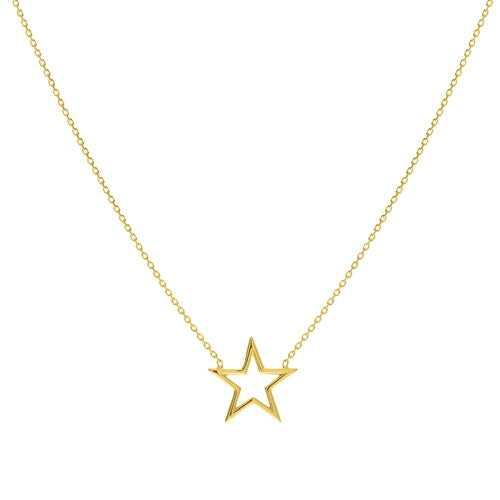 Yellow Gold Start Necklace
