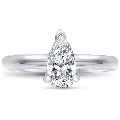 Pear Solitaire Diamond Engagement Ring