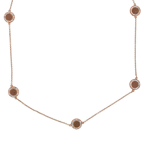 Rose Gold Station Necklace