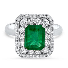 Load image into Gallery viewer, Emerald & Diamond Ring