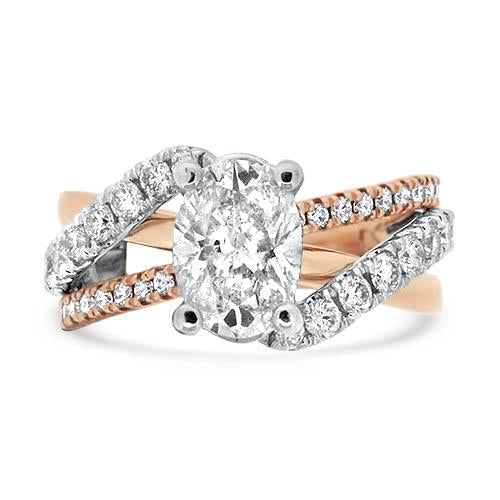 Two-Tone 1.80ct Oval Diamond Ring
