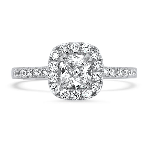 Halo Diamond Engagament Ring