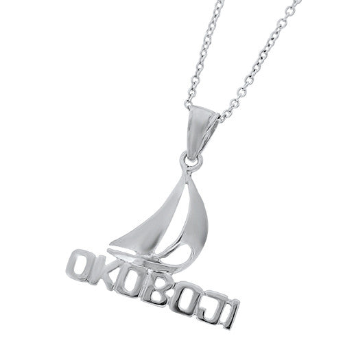 Sterling Silver Okoboji Sailboat Charm