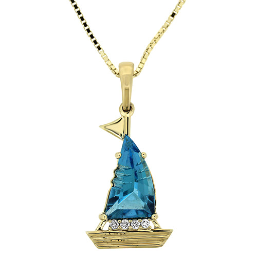 Okoboji Sailboat Pendant