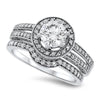 Ring Mount Diamond Wedding Set
