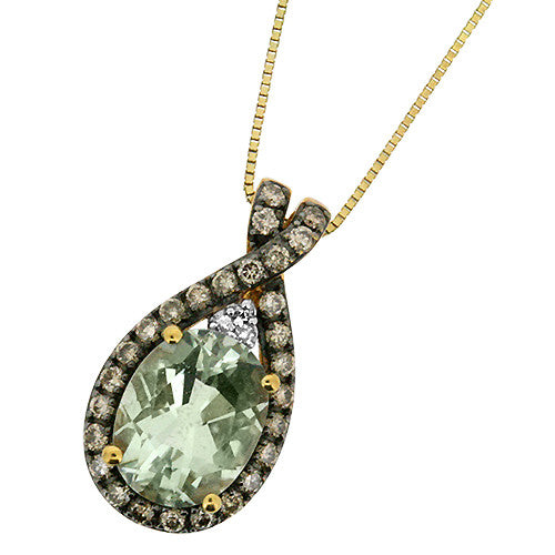 pearlstone necklace amethyst small green jewelry pendant