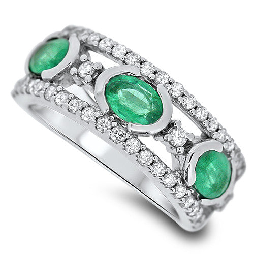 Thick Emerald Ring