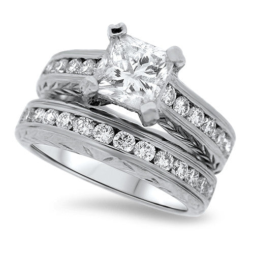 Glamorous Diamond Wedding Set