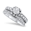 Soft Halo Diamond Wedding Set