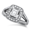 Rectangle Diamond Ring