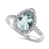 Pear Shaped Aquamarine Ring