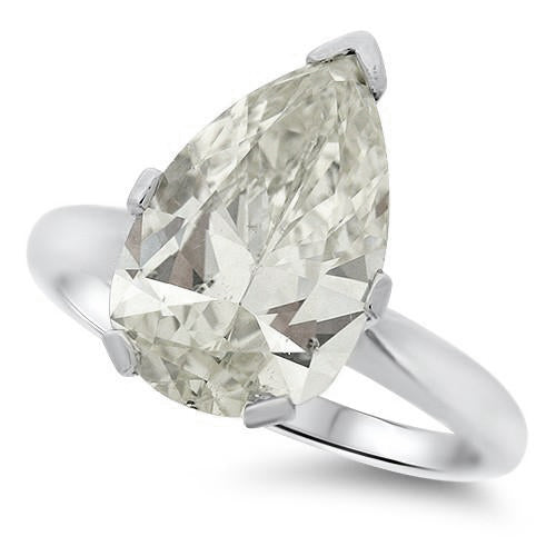 5.00ct Pear Cut Diamond Solitaire Ring