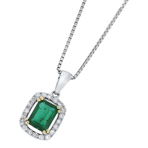 Diamond & Emerald Pendant