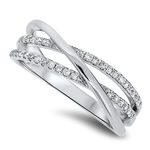 Gracefully Held Diamond Ring