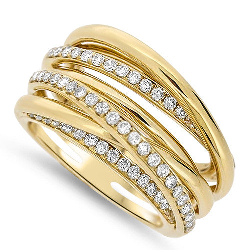Stacked-Look Diamond Fashion Ring