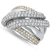 Two Tone Diamond Fashion Ring