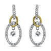 Two Tone Diamond Earrings