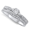 Cascading Diamond Wedding Set