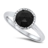 White & Black Diamond Ring