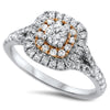 Two Tone Layered Diamond Ring