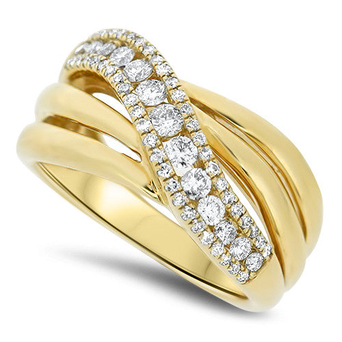 Ribbon Style Diamond Ring