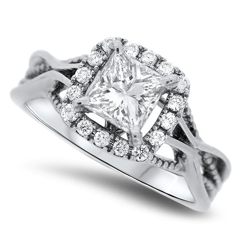 Detailed Diamond Ring